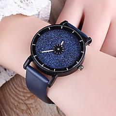 preiswerte Herrenuhren-Herrn Damen Armbanduhr Quartz Kreativ Armbanduhren für den Alltag PU Band Analog Modisch Mehrfarbig Schwarz / Weiß / Blau - Blau Hellblau Schwarz / Weiß
