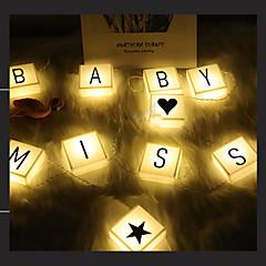 preiswerte LED Lichtstreifen-HKV 2,5 m Leuchtgirlanden 20 LEDs Warmes Weiß / Weiß Dekorativ AA-Batterien angetrieben 1 set