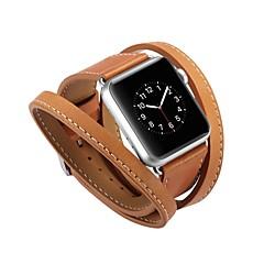 お買い得  腕時計ベルト-カーフヘアー 時計バンド ストラップ のために Apple Watch Series 3 / 2 / 1 ブラック / ブルー / レッド 23センチメートル / 9インチ 2.1cm / 0.83 Inch