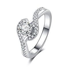 preiswerte Ringe-Damen Stilvoll / Übergang Ring - Platiert, Diamantimitate Liebe Romantisch, Modisch, Franz?sisch 6 / 7 / 8 Silber Für Formal / Verabredung