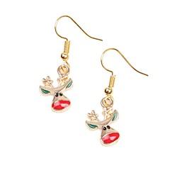 abordables Bijoux pour Femme-Femme Opale 3D Boucles d'oreille goutte - Elk simple Or Pour Noël