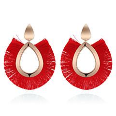 preiswerte Ohrringe-Damen Quaste Ohrring - Tropfen Retro, Böhmische, Modisch Rot / Grün / Golden Für Normal / Alltag