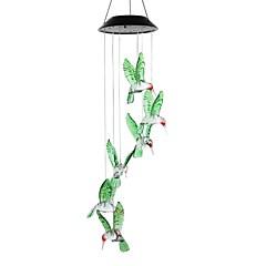 preiswerte Ausgefallene LED-Beleuchtung-1pc Solarlampe Farbwechsel LED Windspiele Licht im Freien Hausgarten Dekor solarbetriebenen Windspiel