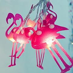 preiswerte LED Lichtstreifen-1.5 Leuchtgirlanden 10 LEDs Rosa Neues Design / Dekorativ / Cool AA-Batterien angetrieben 1 set