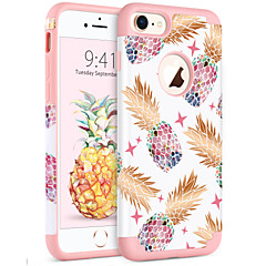 Недорогие Кейсы для iPhone 7-BENTOBEN Кейс для Назначение Apple iPhone 8 / iPhone 7 Защита от удара / IMD / С узором Кейс на заднюю панель Растения / Фрукты Мягкий ПК / силикагель для iPhone 8 / iPhone 7