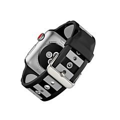 お買い得  メンズ腕時計-シリコーン 時計バンド ストラップ のために Apple Watch Series 3 / 2 / 1 ブラック 23センチメートル / 9インチ 2.1cm / 0.83 Inch