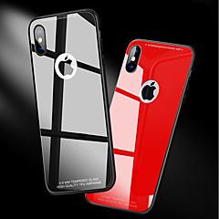 Недорогие Кейсы для iPhone X-Кейс для Назначение Apple iPhone X / iPhone 8 Защита от удара / Зеркальная поверхность Кейс на заднюю панель Однотонный Твердый Закаленное стекло для iPhone X / iPhone 8 Pluss / iPhone 8