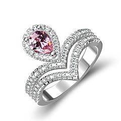 preiswerte Ringe-Damen Kubikzirkonia Stilvoll Ring - Platiert Krone Stilvoll 6 / 7 / 8 Rosa Für Geschenk