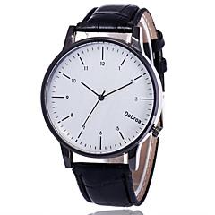 preiswerte Damenuhren-Herrn Damen Armbanduhr Quartz Armbanduhren für den Alltag Leder Band Analog Modisch Minimalistisch Schwarz / Braun - Schwarz / Braun Schwarz / Weiß Weiß / Braun