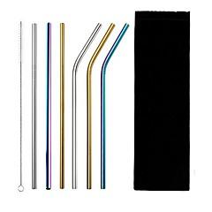 abordables Pajitas y mezcladores-pincel limpiador de paja de metal de acero inoxidable de alta calidad reutilizable para pajitas