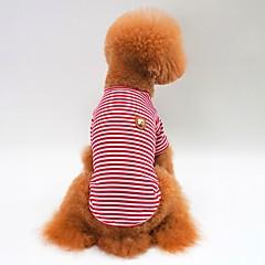 お買い得  犬用ウェア&アクセサリー-犬用 / 猫用 Tシャツ 犬用ウェア ストライプ レッド / グリーン / ブルー コットン コスチューム ペット用 男女兼用 シンプルなスタイル / カジュアル / スポーティ