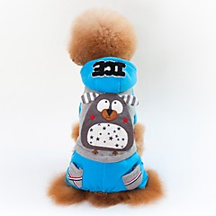 お買い得  犬用ウェア&アクセサリー-犬用 / 猫用 コート 犬用ウェア カラーブロック / パターン柄 / キャラクター イエロー / ブルー コットン コスチューム ペット用 男女兼用 カジュアル/普段着 / シンプルなスタイル