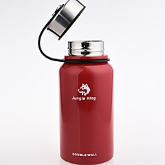 abordables Cocina de Camping-Jungle King Vaso para camping ventosa retener el calor Acero Inoxidable Al aire libre para Negro Rojo Verde