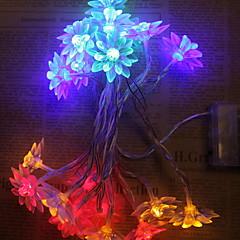 preiswerte LED Lichtstreifen-1.2 Leuchtgirlanden 10 LEDs Warmes Weiß / Weiß / Mehrfarbig Neues Design / Dekorativ / Cool AA-Batterien angetrieben