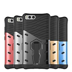Недорогие Чехлы и кейсы для Xiaomi-Кейс для Назначение Xiaomi Mi 6 Защита от удара / со стендом Кейс на заднюю панель Однотонный Твердый ПК для Xiaomi Mi 6
