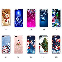 Недорогие Кейсы для iPhone 7-Кейс для Назначение Apple iPhone X / iPhone 8 С узором Кейс на заднюю панель Рождество Мягкий ТПУ для iPhone X / iPhone 8 Pluss / iPhone 8