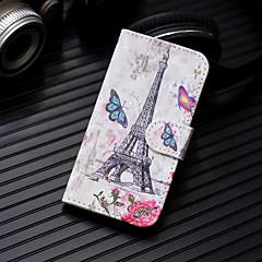 Недорогие Кейсы для iPhone X-Кейс для Назначение Apple iPhone XS / iPhone XS Max Кошелек / Бумажник для карт / со стендом Чехол Эйфелева башня Твердый Кожа PU для iPhone XS / iPhone XR / iPhone XS Max