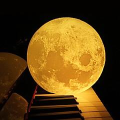お買い得  LED アイデアライト-3dの月のランプベッドルームの本棚夜の光創造的な新年のクリスマスの贈り物