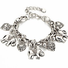 preiswerte Armbänder-Damen Retro Armband mit Anhänger - Elefant, Herz Boho Armbänder Gold / Silber Für Karnival Bar