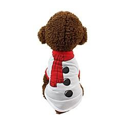 お買い得  犬用ウェア&アクセサリー-犬用 Tシャツ 犬用ウェア プリント / シンプル ホワイト コットン コスチューム ペット用 男女兼用 普通 / カジュアル/普段着