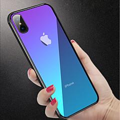 Недорогие Кейсы для iPhone X-Кейс для Назначение Apple iPhone XR / iPhone XS Max Защита от удара / Полупрозрачный Кейс на заднюю панель Однотонный Твердый Закаленное стекло для iPhone XS / iPhone XR / iPhone XS Max