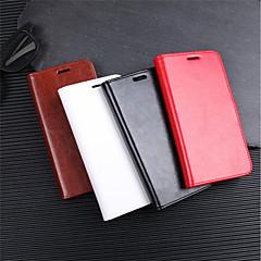 Недорогие Чехлы и кейсы для Xiaomi-Кейс для Назначение Xiaomi Xiaomi Pocophone F1 / Redmi 6 / Mi 8 Кошелек / Бумажник для карт / Флип Чехол Однотонный Твердый Кожа PU для Xiaomi Redmi Note 5 Pro / Xiaomi Redmi Note 6 / Xiaomi