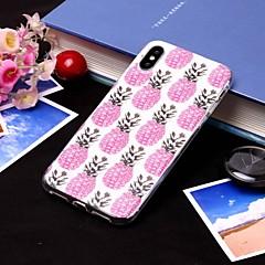 Недорогие Кейсы для iPhone 6-Кейс для Назначение Apple iPhone XS / iPhone XS Max IMD / Полупрозрачный Кейс на заднюю панель Фрукты Мягкий ТПУ для iPhone XS / iPhone XR / iPhone XS Max