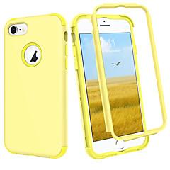Недорогие Кейсы для iPhone 7-BENTOBEN Кейс для Назначение Apple iPhone 8 / iPhone 7 Защита от удара Чехол Однотонный Твердый Силикон / ПК для iPhone 8 / iPhone 7