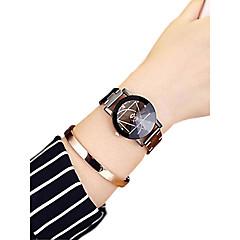 preiswerte Damenuhren-Damen Armbanduhr Quartz 30 m Kreativ Edelstahl Band Analog Modisch Schwarz - Weiß Schwarz