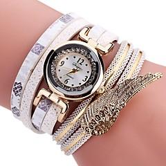 preiswerte Damenuhren-Damen Armbanduhr Quartz Neues Design Armbanduhren für den Alltag PU Band Analog Modisch Elegant Schwarz / Weiß / Blau - Grün Blau Rosa Ein Jahr Batterielebensdauer