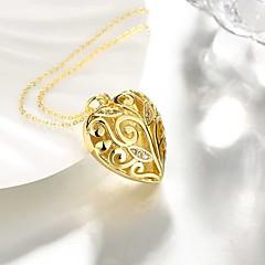 preiswerte Halsketten-Damen Anhängerketten - versilbert, vergoldet Herz Süß, Modisch Heart, lieblich Gold, Silber 50 cm Modische Halsketten Schmuck 1pc Für Alltag, Arbeit