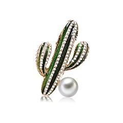 abordables Bijoux pour Femme-Femme Perle d'eau douce Chunky Broche - Thème floral, Créatif Artistique, Original, Doux Broche Vert Pour Carnaval / Plein Air