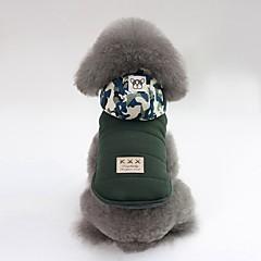 お買い得  犬用ウェア&アクセサリー-犬用 コート 犬用ウェア ソリッド / カモフラージュ グレー / グリーン コットン コスチューム ペット用 男女兼用 カジュアル/普段着 / ウォームアップ