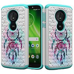 Недорогие Чехлы и кейсы для Motorola-Кейс для Назначение Motorola MOTO G6 / Moto G6 Play Защита от удара / Стразы / С узором Кейс на заднюю панель Ловец снов / Стразы Твердый ПК для MOTO G6 / Moto G6 Play / Moto E5 Play