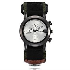 お買い得  メンズ腕時計-男性用 リストウォッチ クォーツ カジュアルウォッチ クール 布 バンド ハンズ カジュアル ファッション ブラック / ブルー / グリーン - ベージュ グリーン ブルー 1年間 電池寿命