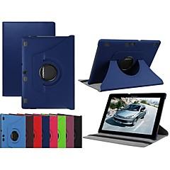 abordables Carcasas / Fundas para Lenovo-Funda Para Lenovo Lenovo Tab 3 10 negocios (TB3-X70F / N) / Lenovo Tab 3 10 Plus con Soporte / Flip / Rotación 360º Funda de Cuerpo Entero Un Color Dura Cuero de PU para Lenovo Tab 3 10 Plus / Lenovo