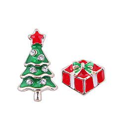preiswerte Ohrringe-Damen Nicht übereinstimmend Ohrstecker - Weihnachtsbaum Europäisch, Modisch, nette Art Rot Für Weihnachten Alltag