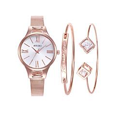 preiswerte Damenuhren-Damen Armbanduhr Quartz 30 m Neues Design Legierung Band Analog Freizeit Modisch Rotgold - Rotgold Rotgold / Silber Rotgold / Weiß