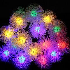 preiswerte LED Lichtstreifen-5m Leuchtgirlanden 20 LEDs Mehrfarbig Solar / Dekorativ Solarbetrieben 1 set