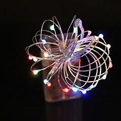 preiswerte LED Lichtstreifen-1m Leuchtgirlanden 10 LEDs Warmes Weiß Dekorativ AA-Batterien angetrieben 1 set