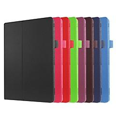 お買い得  その他のケース-ケース 用途 Asus ZenPad 10 Z301MFL / ZenPad 10 Z300CL スタンド付き / フリップ フルボディーケース ソリッド ハード PUレザー のために ASUS ZenPad 10 Z301ML / ASUS ZenPad 10 Z301MFL / ASUS ZenPad 10 Z301MF