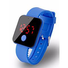 お買い得  メンズ腕時計-男性用 デジタルウォッチ デジタル 30 m 耐水 LCD ラバー バンド デジタル ファッション 多色 ブラック / 白 / ブルー - レッド グリーン ブルー