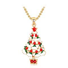 お買い得  ネックレス-女性用 3D ペンダントネックレス  -  クリスマスツリー クラシック, 甘い, ファッション キュート, かわいい レインボー 47 cm ネックレス ジュエリー 1個 用途 クリスマス, 新年