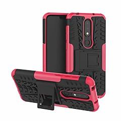 Недорогие Чехлы и кейсы для Nokia-Кейс для Назначение Nokia Nokia X6 со стендом Кейс на заднюю панель броня Твердый ПК для Nokia X6