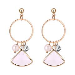 preiswerte Ohrringe-Damen Geometrisch Tropfen-Ohrringe - Künstliche Perle Einfach, Europäisch, Modisch Weiß / Rot / Hellblau Für Normal Alltag