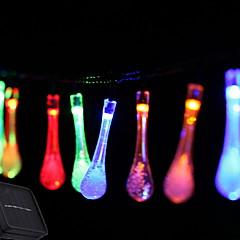 お買い得  LED ストリングライト-2.5m ストリングライト 10 LED マルチカラー ソーラー駆動 / 装飾用 ソーラー駆動 1セット