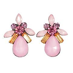 preiswerte Ohrringe-Damen Synthetischer Turmalin Tropisch Tropfen-Ohrringe - Blume Grundlegend, Modisch Weiß / Blau / Rosa Für Alltag Verabredung