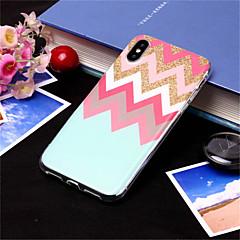 Недорогие Кейсы для iPhone X-Кейс для Назначение Apple iPhone XS / iPhone XS Max С узором Кейс на заднюю панель Полосы / волосы Мягкий ТПУ для iPhone XS / iPhone XR / iPhone XS Max