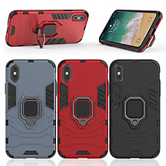 Недорогие Кейсы для iPhone 6-Кейс для Назначение Apple iPhone X / iPhone 8 Plus Кольца-держатели Кейс на заднюю панель броня Твердый ПК для iPhone X / iPhone 8 Pluss / iPhone 8