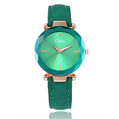 preiswerte Damenuhren-Damen Armbanduhr Quartz Armbanduhren für den Alltag PU Band Analog Modisch Schwarz / Rot / Braun - Braun Rot Grün